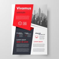 Flyer brochure design, business flyer size A4 template, creative leaflet